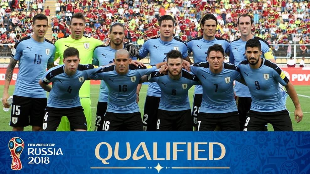 Команда Уругвая - участник ЧМ 2018