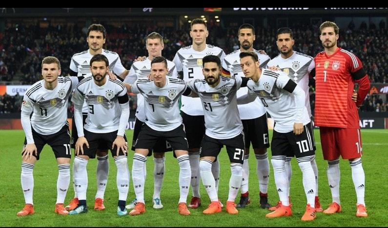 Сборная команда Германии на Чемпионате мира по футболу в России