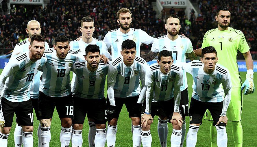 Сборная команда Аргентины на Чемпионате Мира 2018 в России