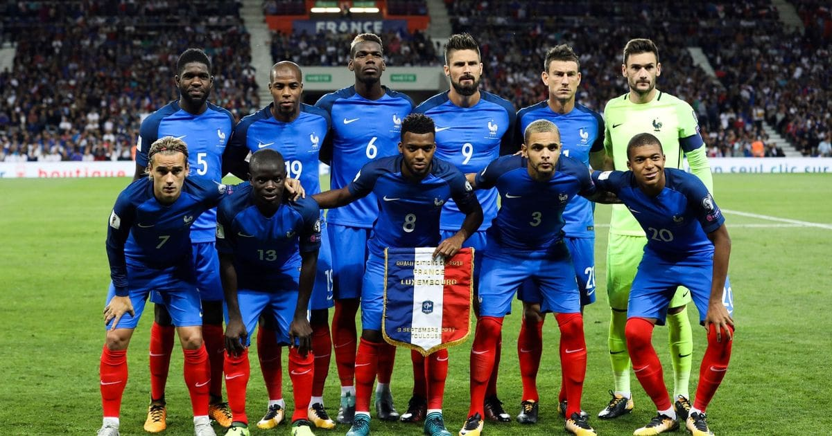 Сборная команда Франции на Чемпионате мира по футболу 2018