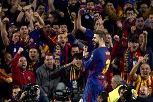 Барселона Рома 4:1. Жерар Пике