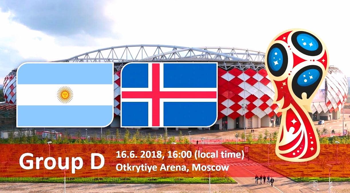 Матч Аргентина - Исландия Чемпионата мира 2018 пройдет в Москве на Открытие Арене 16 июня
