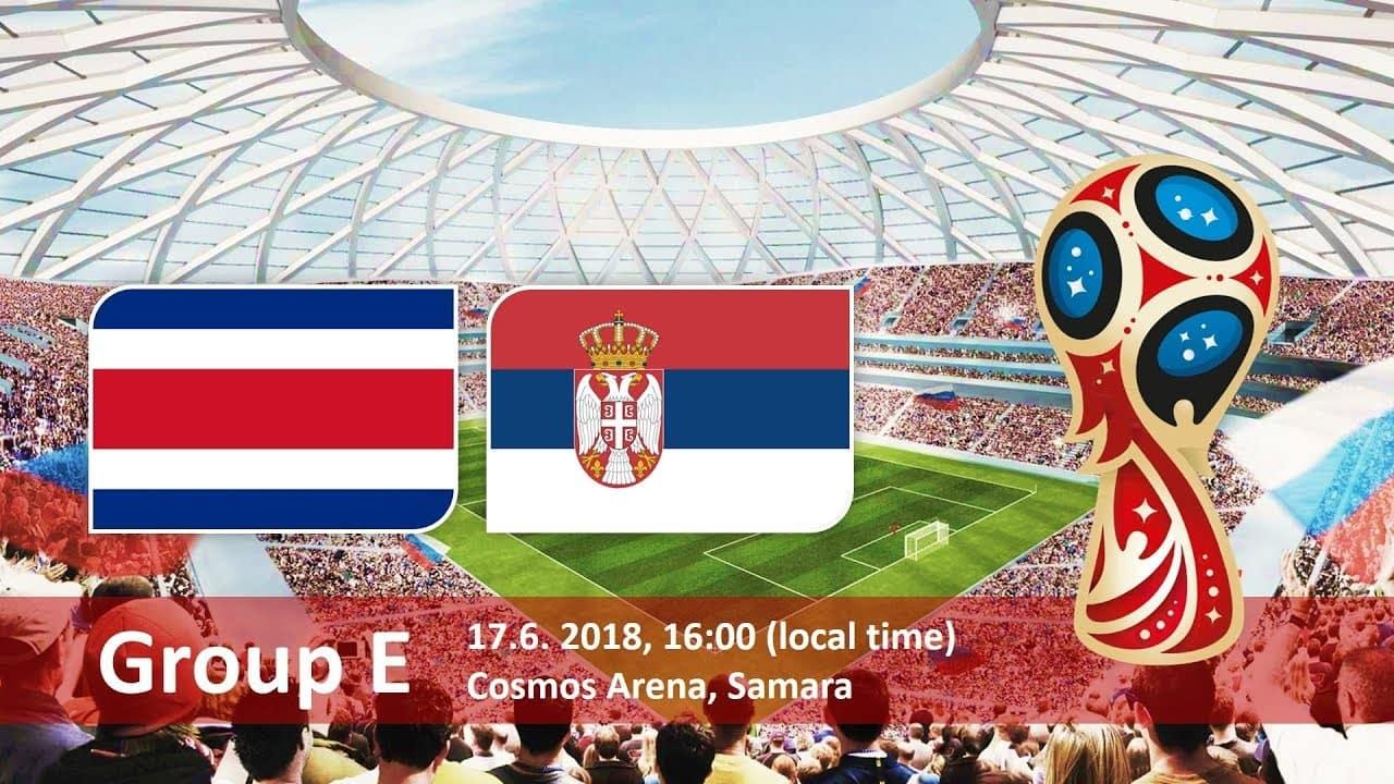 Матч Коста-Рика - Сербия: Арена Самара, 17 июня, группа E прогноз на матч от sport2cash.com