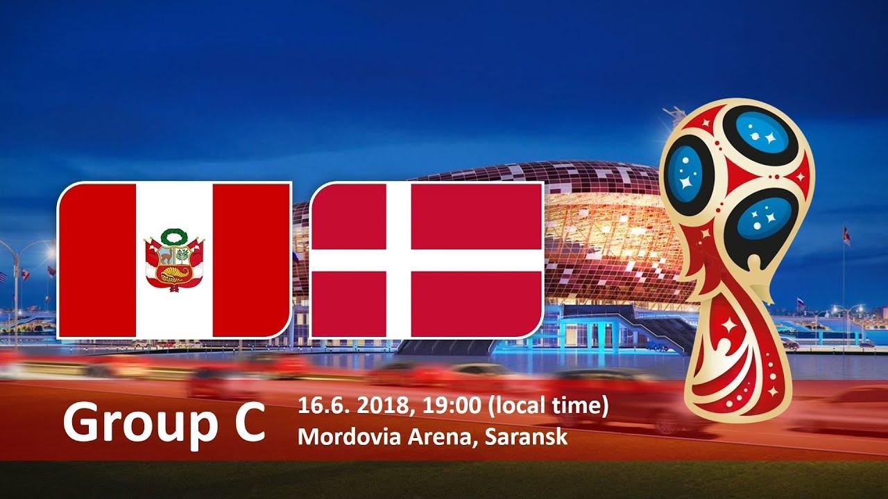 Матч Перу - Дания пройдет 16 июня в Саранске на Стадионе Мордовия-Арена. Чемпионат мира 2018 в России, группа C