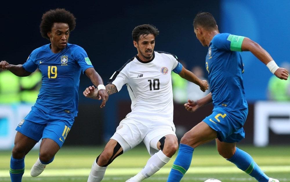 Матч Бразилия - Коста-Рика: победа Селесао в компенсированное время